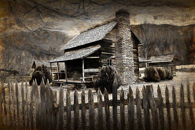 Photograph - Mountain Cabin by Randall Nyhof