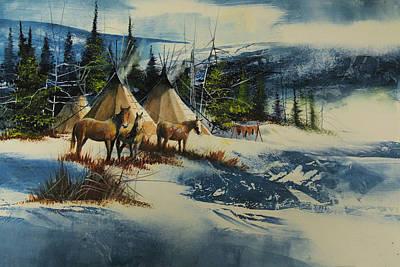 Mountain Camp Art Print by Robert Carver
