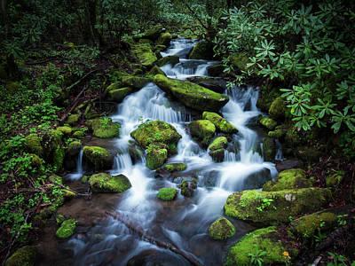 Photograph - Mountain Cascade by Van Sutherland