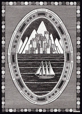 Mountain City Sailboat Original
