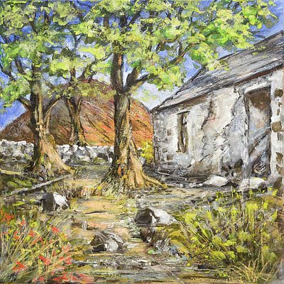 Painting - Mountain Cottage by Marty Garland