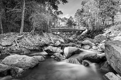 Photograph - Mountain Creek Bridge In Black And White  by James BO IMountain Creek Bridge in Black and White nsogna