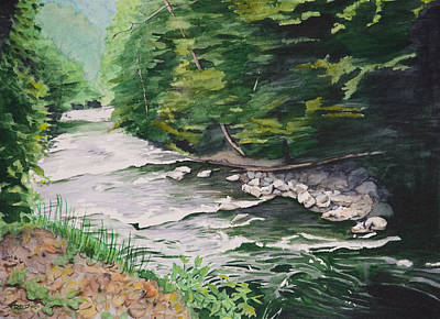 Horizontal Painting - Mountain Creek by Christopher Reid