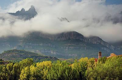 Mountain De Montserrat Art Print