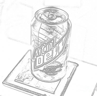 Thomas Kinkade Rights Managed Images - Mountain Dew sketch photograph Royalty-Free Image by Jennifer Craft