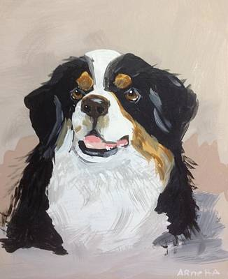 Easterseals Painting - Mountain Dog by Arnetta T
