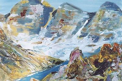 Painting - Mountain Done With Knife by Darren Cannell