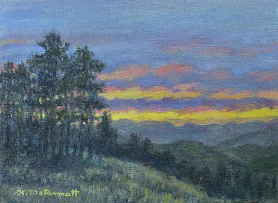 Painting - Mountain Dusk by Kathleen McDermott