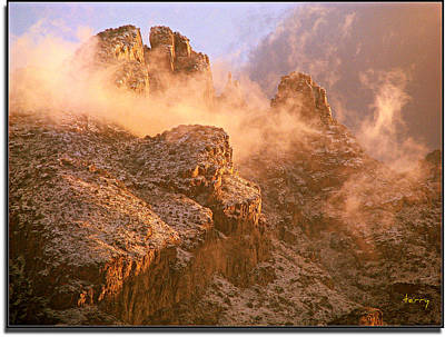 Photograph - Mountain Dusting by Terry Temple