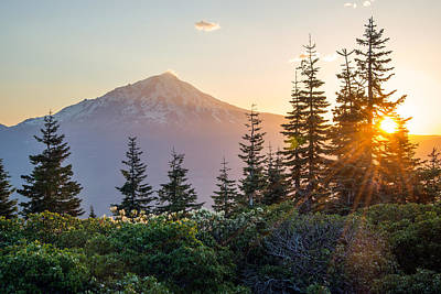 Photograph - Mountain Evening by Leland D Howard