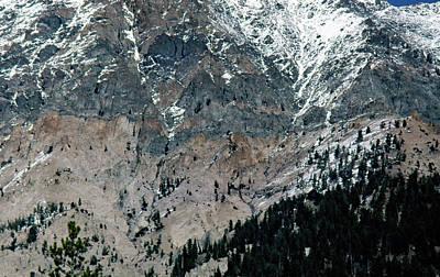 Photograph - Mountain Face by John Schneider