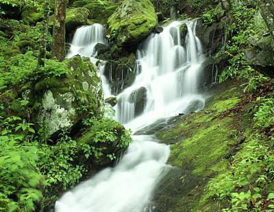 Smoky Mountain National Pall Photograph - Mountain Falls by Marty Koch