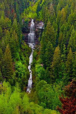 Photograph - Mountain Falls by Ryan Heffron
