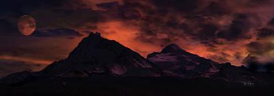 Digital Art - Mountain Fantasy by Bill Posner