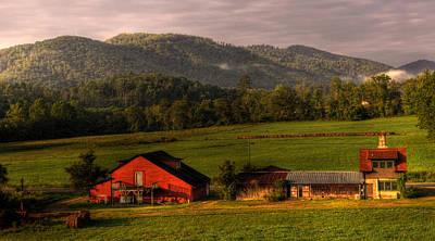 Fog Photograph - Mountain Farm by Greg and Chrystal Mimbs
