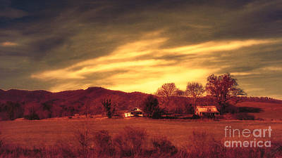 Photograph - Mountain Farm by Mechala Matthews