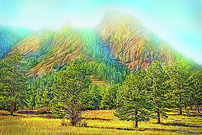 Digital Art - Mountain Field Harmony by Joel Bruce Wallach