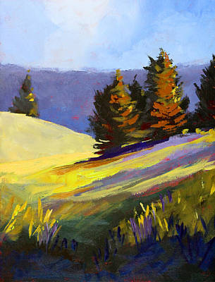 Painting - Mountain Field by Nancy Merkle