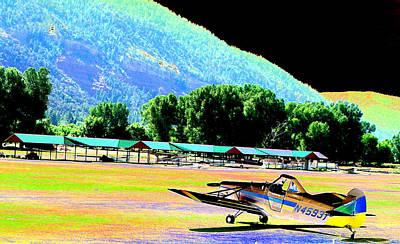 Hanger Digital Art - Mountain Flight by Peter  McIntosh