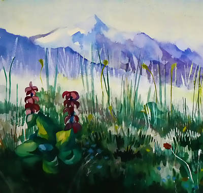 Mountain Flowers Art Print by Anastasia Michaels