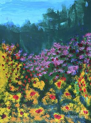 Painting - Mountain Flowers by Donald J Ryker III