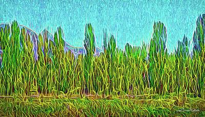 Digital Art - Mountain Forest Daylight by Joel Bruce Wallach