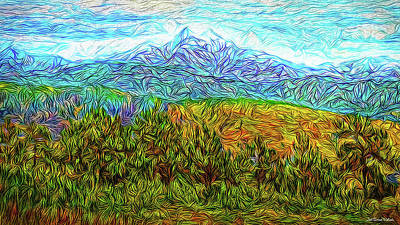 Digital Art - Mountain Forest Revelation by Joel Bruce Wallach