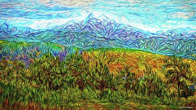 Digital Art - Mountain Forest Revelation by Joel Bruce Wallach