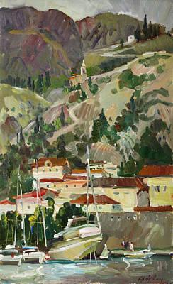 Painting - Mountain Fortress by Juliya Zhukova