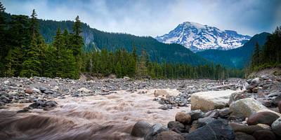 Photograph - Mountain Glacier River by Chris McKenna