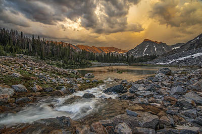 Photograph - Mountain Glow by Leland D Howard