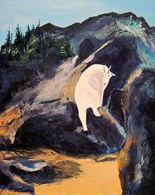 Mountain Goat Art Print by Richard Beauregard
