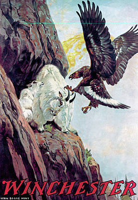Painting - Mountain Goats And Eagle by Lynn Bogue Hunt