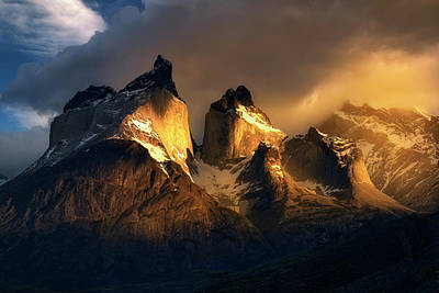 Photograph - Mountain Golden Glow by Nicki Frates