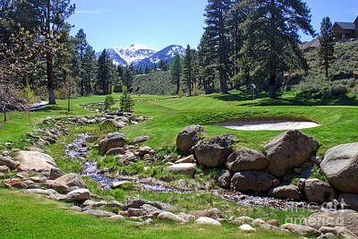 Mountain Golf Course Art Print by Thomas Marchessault