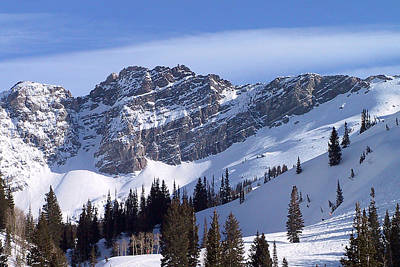 Skiing Photograph - Mountain High - Salt Lake Ut by Christine Till