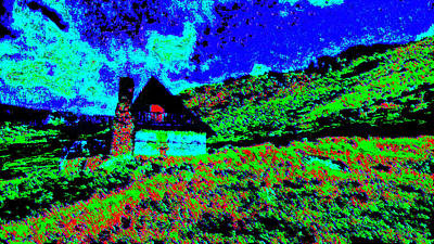 Mountain House Dd3 Art Print by Modified Image