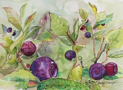 Mountain Huckleberry Patch Art Print by Rosanna Cartwright