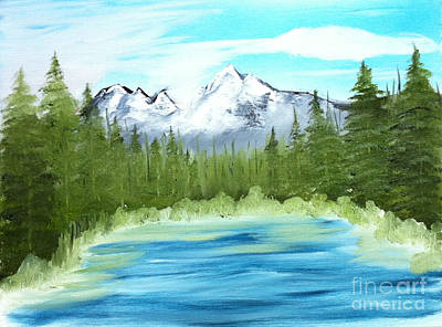 Painting - Mountain Imagining by Rod Jellison