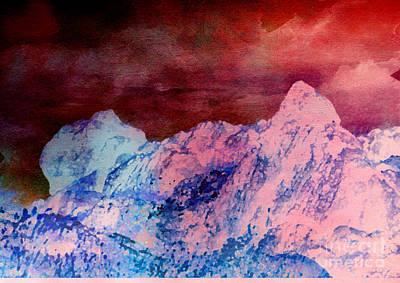 Digital Art - Mountain by Karo Evans