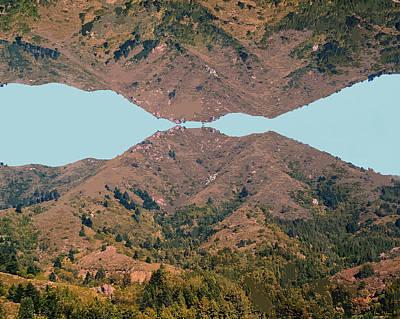 Photograph - Mountain Kiss Enhanced No Text by Ben Upham III