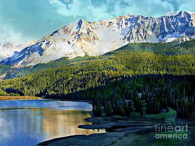 Digital Art - Mountain Lake by Annie Gibbons