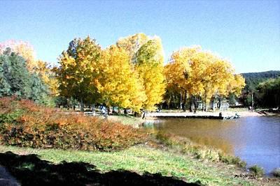 Mountain Lake Autumn Art Print