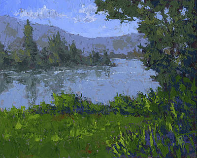 Wilderness Painting - Mountain Lake by David King