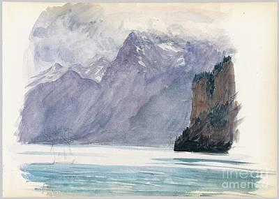Switzerland Painting - Mountain Lake From Switzerland by MotionAge Designs