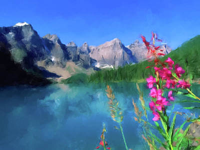 Painting - Mountain Lake by Gary Grayson
