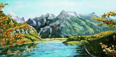 Painting - Mountain Lake by Ingrid Dohm
