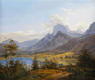 Painting - Mountain Lake by Johann Nepomuk Ott