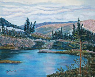 Summit County Painting - Mountain Lake by Mary Benke