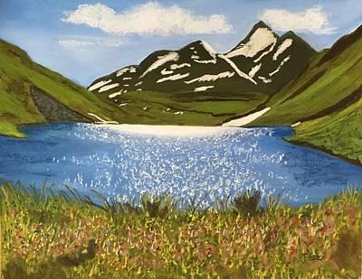 Pastel - Mountain Lake by Michele Turney